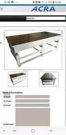 Cast iron heavy bed table.....engineers table