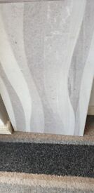 24 LARGE 21X13 IN WALL TILES 3 WAVE PATTER