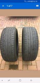Two part worn Bridgestone Potenza 225/45/19