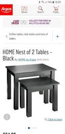 Black nest of tables