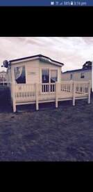 For hire lovely 3 bed deluxe caravan with decking available at Allhallows Haven holiday park in Kent