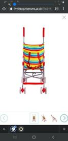 Red kite Rainbow Stroller- perfect for travel.. less that 5kg