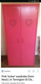 Pink next locker style wardrobe vgc. £40 collection from Enfield En1
