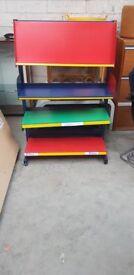 Brightly Coloured Bomefa Bookshelf