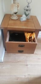 Side Wooden Table with Draw