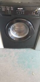 Bush washing machine In black just over 1year old perfect working order and good clean condition