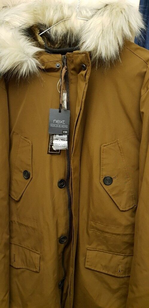 eaa0f8571f4 RRP £160 Next Fur Lined Duck feather and Down Parka Jacket / Coat SIZE XL /  Extra Large