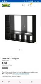 IKEA LAPLAND MEDIA TV UNIT WITH KALLAX DRAWERS AND DOORS