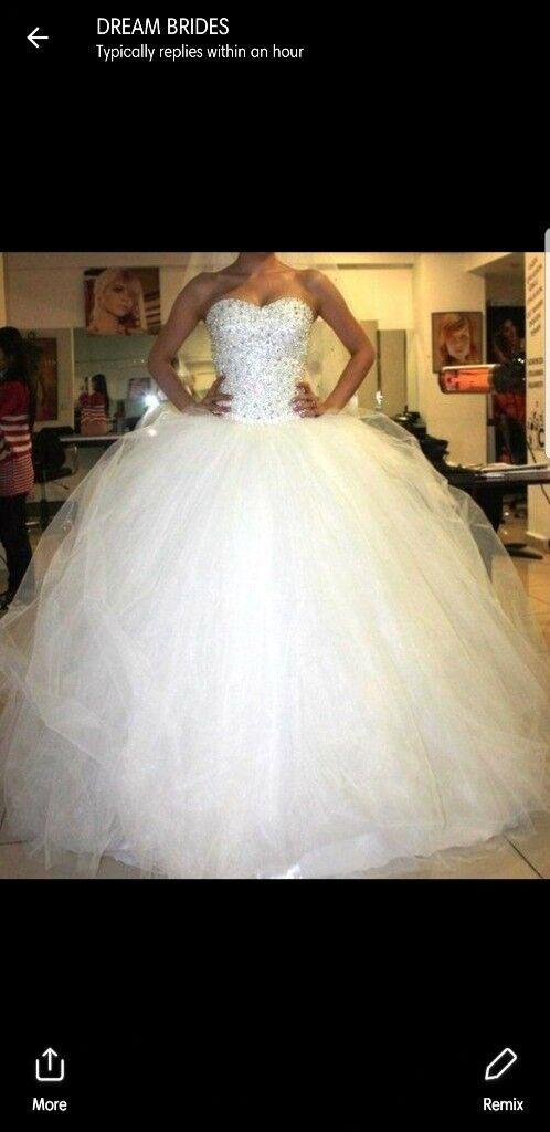 Limited Addition Princess Sparkly Wedding Dress