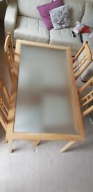 Frosted glass dining table