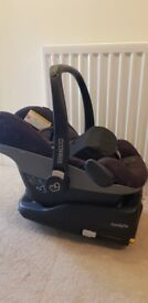 Maxi-Cosi Pebble infant car seat with FamilyFix ISOFIX base