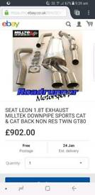Seat l3on 1.8 20v Miltec exhaust