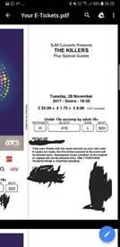 Sold! The Killers O2 27th November.