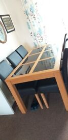 Solid 6 Seater Table and Chairs