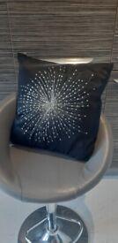 Black sparkly cushion