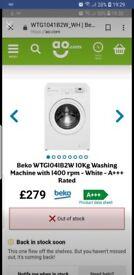 Washing machine 10 kg capacity