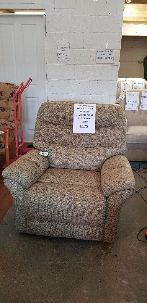 Magnificent Tuscany Power Recliner Chair With Built In Usb Charging Port Delivery Available In Wombourne West Midlands Gumtree Pabps2019 Chair Design Images Pabps2019Com