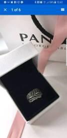 Leaf Pandora ring