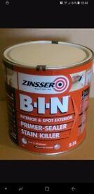 Zinsser bin stain block best cover 2.5