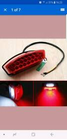 Led rear light unit motorbike quad