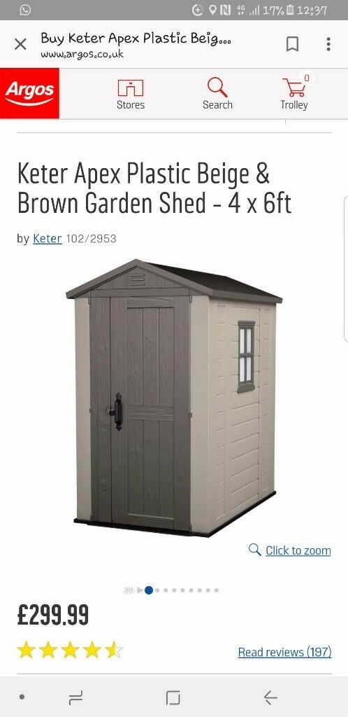 plastic garden shed
