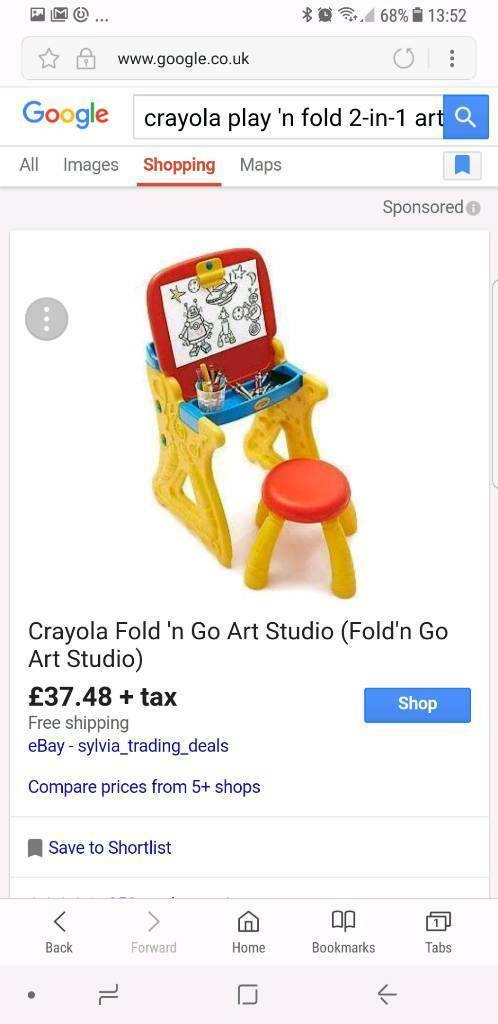 Crayola table with chair. Brand new