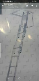 Aluminium Loft Ladder 3 Section good condition and fully funcional