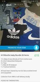 baby boy bundle 6-9 Months 26 Items