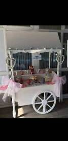 Candy cart - with or without sweets weddings birthdays christenings parties
