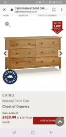 Solid Oak chest of drawers Excellent condition