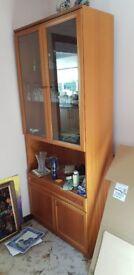 Teak Display Cabinet - Glass Doors