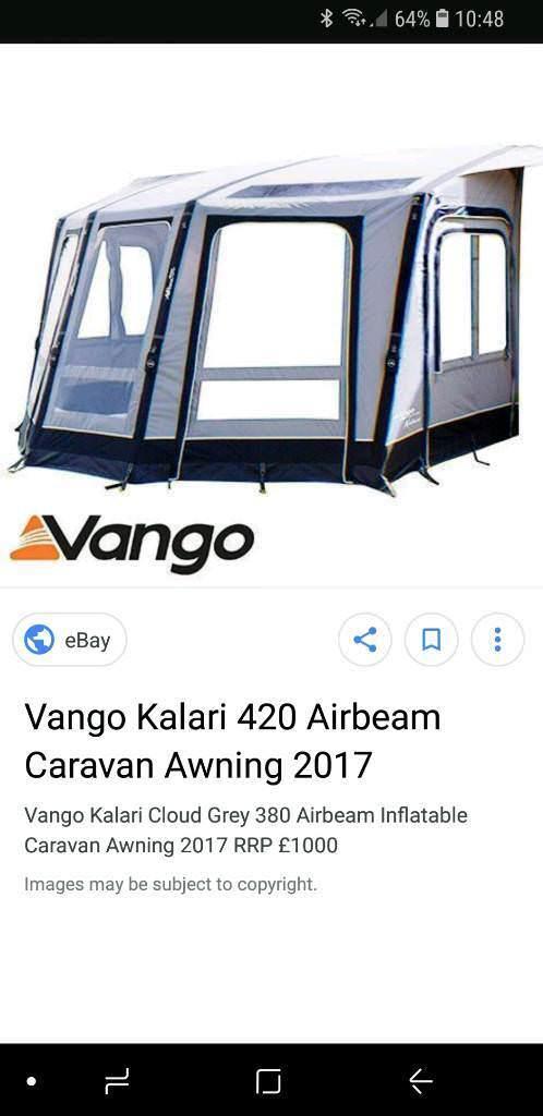 Vangi Kalari 420 Air Awning Air Annex For Sale In Barton On Sea