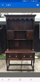 19th century Victorian solid Oak dresser