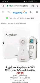 Brand new Angelcare movement and sound baby monitor