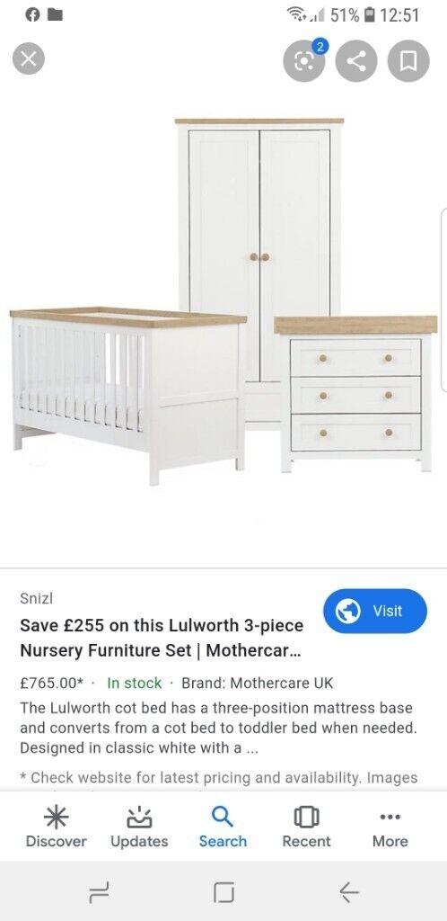 Sold 3 Piece Nursery Furniture Bundle