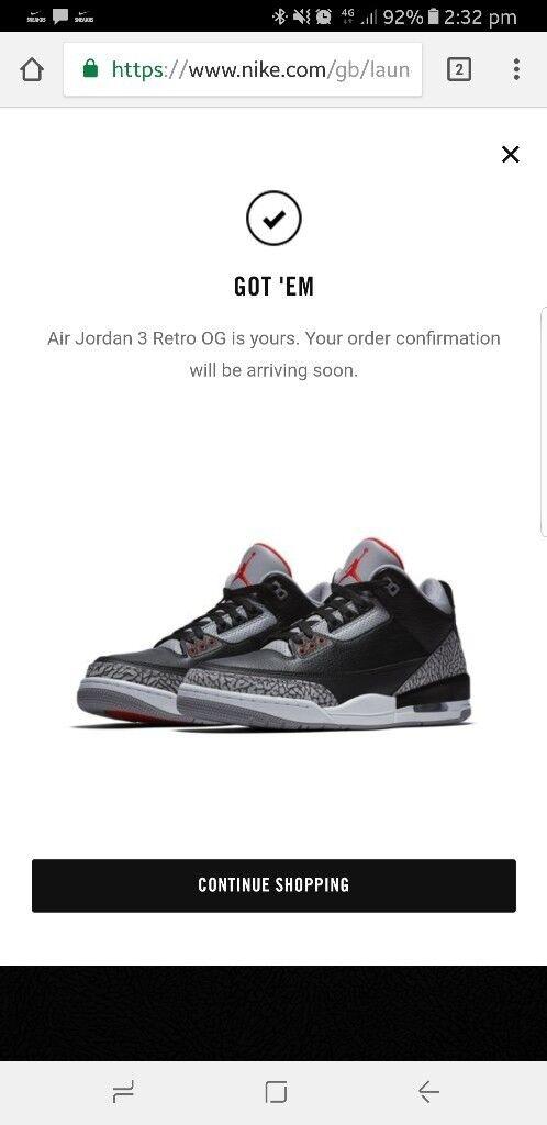 buy popular 54610 697a6 ... svart hvit sko e7d2e eeea5  australia nike air jordan 3 black cement  0b9fc c482f