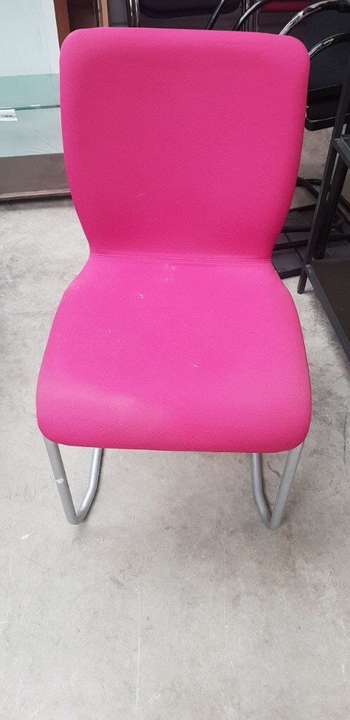 Pink Meeting/ Reception Designer Cantilever Chair