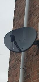 Sky Dish and cable
