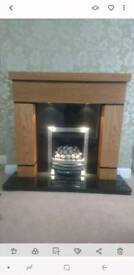 Gas fire and mantle piece