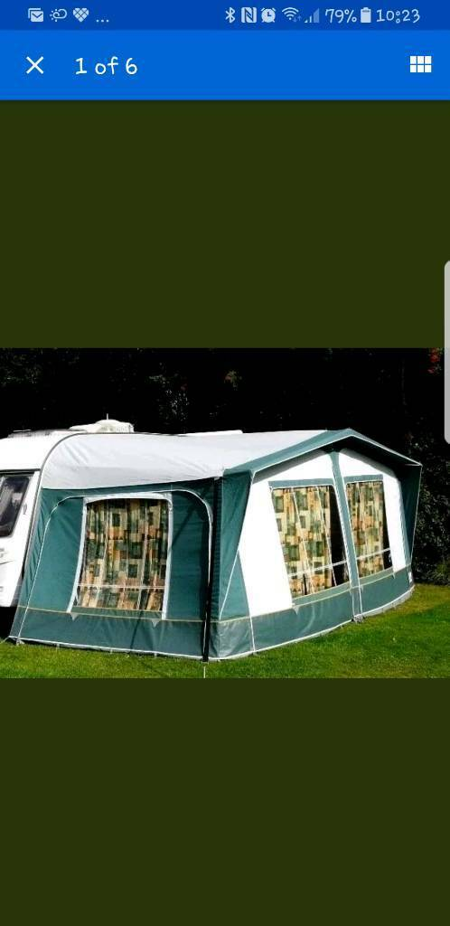 green 19 foot awning