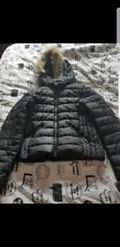 Black winter coat from zara