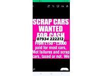 Alllll scrap cars bought for cash cars vans trucks