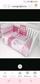 My dolly cot bedding