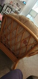 Cane arm chair great condition retro