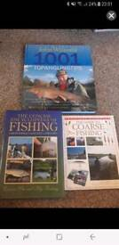 3 coarse fishing / angling books - like new