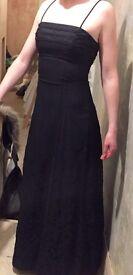 Beautiful midnight purple prom dress and matching pashmina - worn once