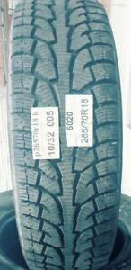 PNEUS HIVER USAGÉS / USED WINTER TIRES 265/70R18 26570R18 HANKOOK PIKE RW11