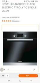 Bosch HBA63B152B Pyrolytic single oven (Black)