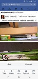 Extendable hedge trimmers as new in box £40