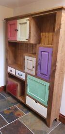 Free standing wooden kitchen cabinet